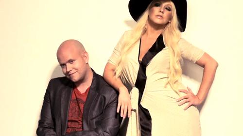 BLOOMBERG / Daniel Ek & Christina Aguilera